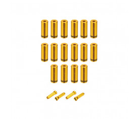 Jagwire Pro End Cap Pack Gold