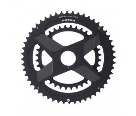 Rotor Chainring Aldhu 3D+ Direct Mount Din Round Black 52/36t